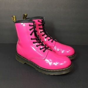 Dr. Martens Pink Patent Leather Boots 5